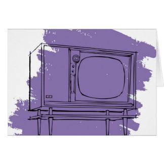 Vintage Retro Kitsch 50s TV Television Set Greeting Card