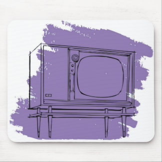Vintage Retro Kitsch 50s TV Television Set Mouse Pad