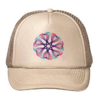 Vintage Retro Kitsch 60s Spiro Graphic Pen Design Trucker Hat