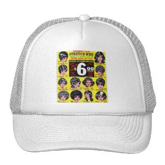 Vintage Retro Kitsch 60s Strech Wigs $6.99 Ad Trucker Hat