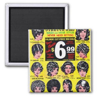 Vintage Retro Kitsch 60s Strech Wigs $6.99 Ad Magnet