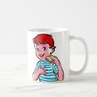 Vintage Retro Kitsch Ad Kid Grilled Cheese Coffee Mug