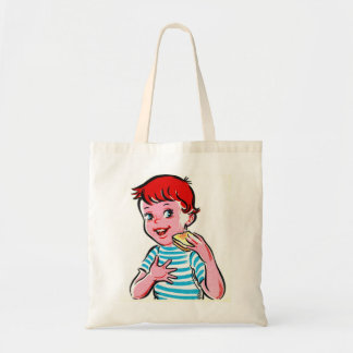 Vintage Retro Kitsch Ad Kid Grilled Cheese Tote Bag