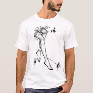 Vintage Retro Kitsch Ad Stockings Nylons Hosiery T-Shirt
