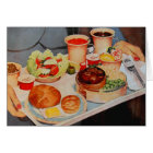 Vintage Retro Kitsch Airplane 60s Airline Food Card