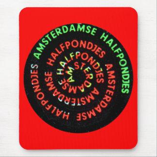 Vintage Retro Kitsch Amsterdamse Halfponjes Pin Mouse Pad