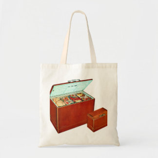 Vintage Retro Kitsch Appliances Deep Freezer Tote Bag