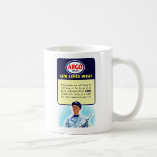 Vintage Retro Kitsch Argo Gas Service Station Ad Coffee Mug