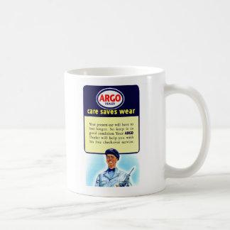 Vintage Retro Kitsch Argo Gas Service Station Ad Coffee Mug