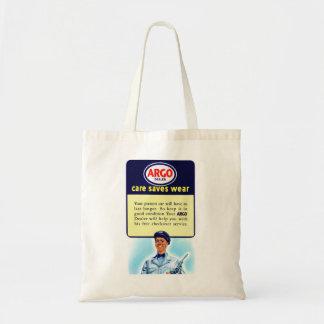 Vintage Retro Kitsch Argo Gas Service Station Ad Tote Bag