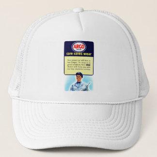 Vintage Retro Kitsch Argo Gas Service Station Ad Trucker Hat