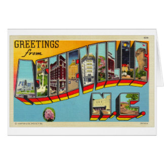 Vintage Retro Kitsch Asheville Big Letter Postcard