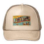 Vintage Retro Kitsch Asheville Big Letter Postcard Mesh Hat
