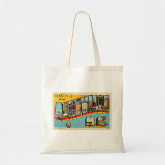 Vintage Retro Kitsch Asheville Big Letter Postcard Tote Bag