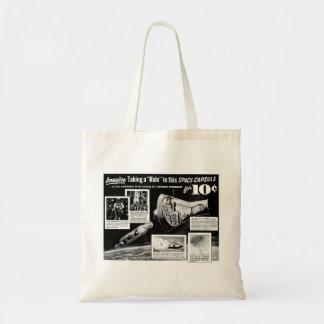 Vintage Retro Kitsch Bad Ad Space Capsule Ride 10¢ Tote Bag