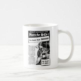 Vintage Retro Kitsch Bad Ad The Book That Shocked! Coffee Mug