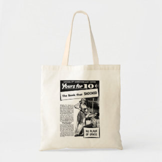 Vintage Retro Kitsch Bad Ad The Book That Shocked! Tote Bag
