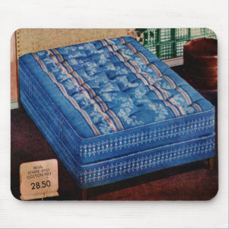 Vintage Retro Kitsch Bed 50s Mattress Catalog Art Mouse Pad