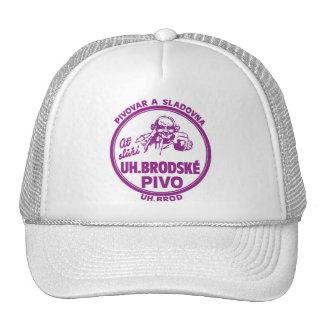 Vintage Retro Kitsch Beer Bier U.H. Brodske Pivo Trucker Hat
