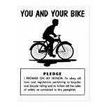 Vintage Retro Kitsch Bicycles You and Your Bike Postcard