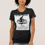 Vintage Retro Kitsch Bicycles You and Your Bike Tees