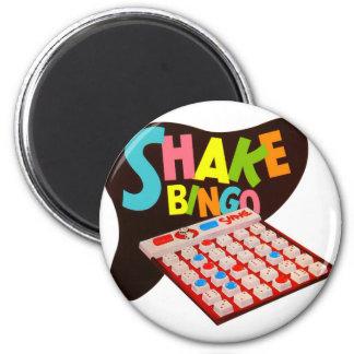 Vintage Retro Kitsch Board Game Shake Bingo 2 Inch Round Magnet