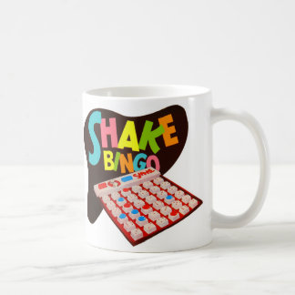 Vintage Retro Kitsch Board Game Shake Bingo Coffee Mug