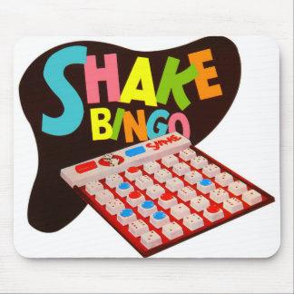 Vintage Retro Kitsch Board Game Shake Bingo Mouse Pad