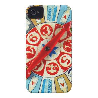 Vintage Retro Kitsch Board Game Spinning Wheel iPhone 4 Case-Mate Case