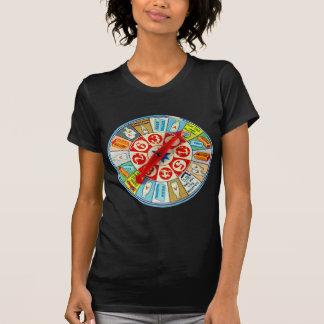 Vintage Retro Kitsch Board Game Spinning Wheel T-Shirt