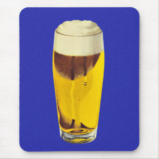 Vintage Retro Kitsch Brewery Beer Bier Glass Mouse Pad