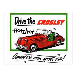 Vintage Retro Kitsch Car Auto Crosley Hotshot Postcard