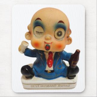 Vintage Retro Kitsch Ceramic Drunk Best Husband Mouse Pad