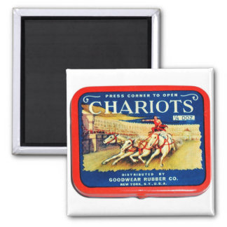 Vintage Retro Kitsch Chariots Condoms Magnet