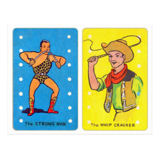 Vintage Retro Kitsch Circus Acts Kid's Card Game