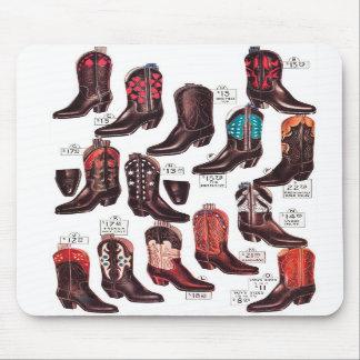 Vintage Retro Kitsch Cowboy Boots Catalog Ad Mouse Pads