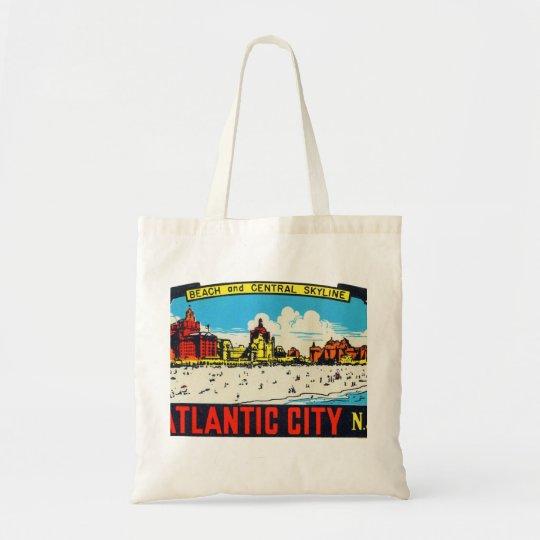 Vintage Retro Kitsch Decal Atlantic City, NJ Tote Bag