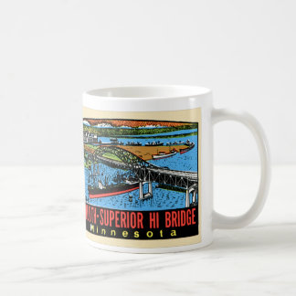 Vintage Retro Kitsch Decal Duluth MN Hi Bridge Coffee Mug