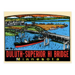 Vintage Retro Kitsch Decal Duluth MN Hi Bridge Post Cards