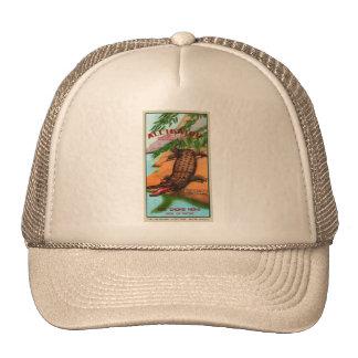 Vintage Retro Kitsch Firecracker Alligator Brand Hats