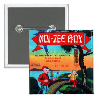 Vintage Retro Kitsch Firecracker Noi-Zee Boys Button