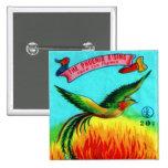 Vintage Retro Kitsch Firecracker Phoenix Rising Pins