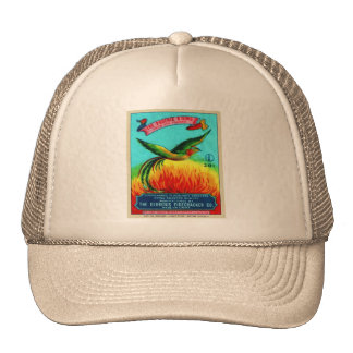 Vintage Retro Kitsch Firecracker Phoenix Rising Trucker Hat