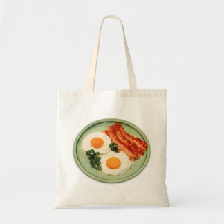 Vintage Retro Kitsch Food Bacon And Eggs Bags
