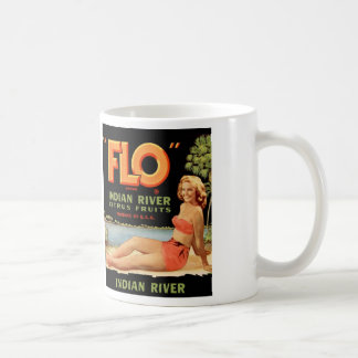 Vintage Retro Kitsch Fruit Crate Pin Up Flo Girl Classic White Coffee Mug