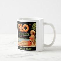 Vintage Retro Kitsch Fruit Crate Pin Up Flo Girl Coffee Mug