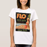 Vintage Retro Kitsch Fruit Crate Pin Up Flo Girl T-Shirt