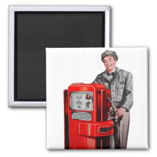 Vintage Retro Kitsch Gas Gasoline Station Gus Magnet
