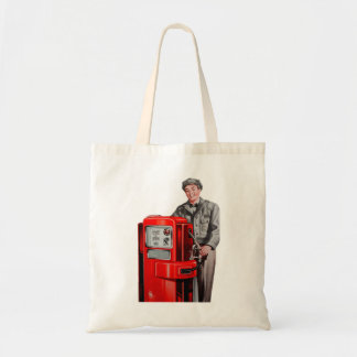 Vintage Retro Kitsch Gas Gasoline Station Gus Tote Bag