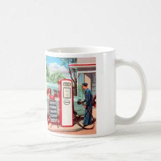 Vintage Retro Kitsch Gasoline Station Filler Up Coffee Mug